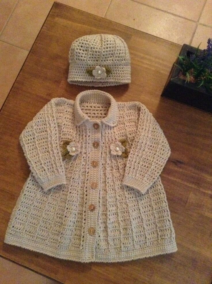 Abrigos tejidos en crochet pinterest