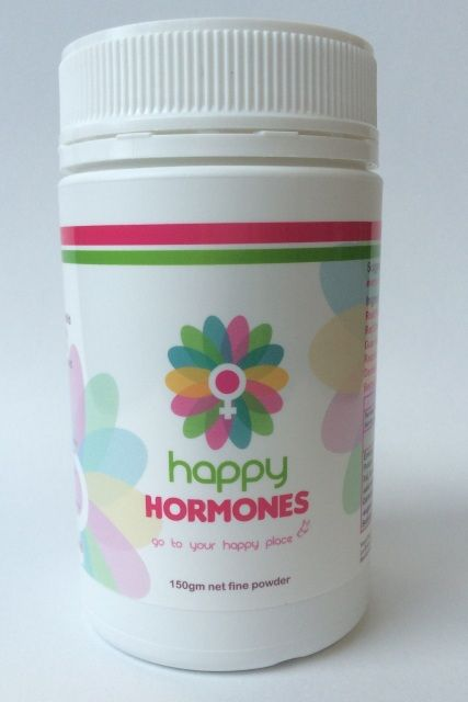 Happy Hormones is a unique combination of natural Herbal Medicines and Superfoods . Suitable for women of all ages and hormonal symptoms, Happy Hormones is designed to create balance again through working with the entire endocrine system. Money back guarantee if you are not 100% satisfied with the results of Happy Hormones. We also recommend taking the Liv'a Tonic along with Happy Hormones for the first container to assist with clearing and excretion of hormones.