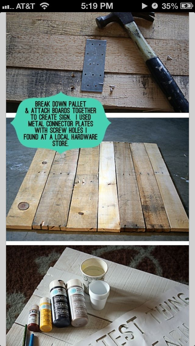 How To Connect Boards From Old Pallets To Make Wall Art
