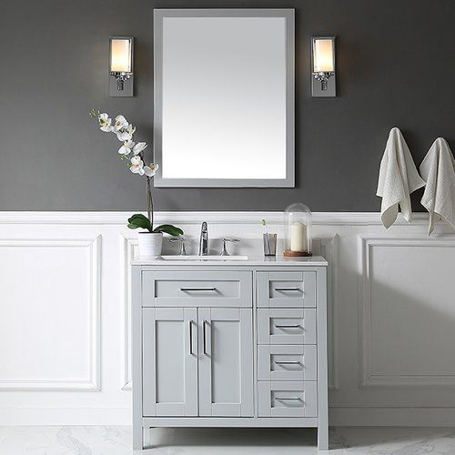 Gallery For Photographers Found it at Wayfair Tahoe Single Bathroom Vanity Set with Mirror in Dove