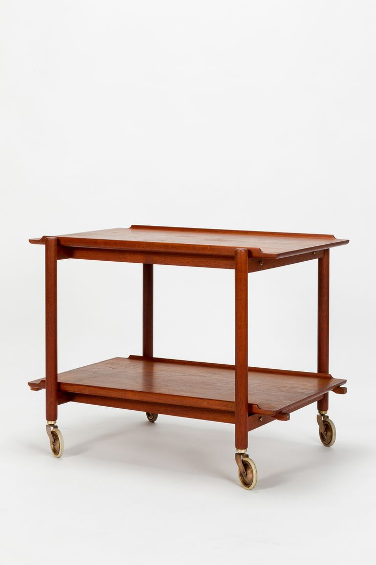 60er teak kommode l chest of 4 drawers l danish modern design l 60s l - Poul Hundevad Serving Trolley Teak 60 S