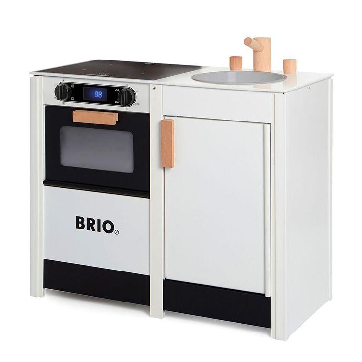 BRIO - Wooden Kitchen Stove & Sink Combo - White