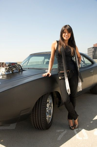 Michelle Rodriguez  with the Dodge Charger Badass wwwturrifftyres  Fast Cars in 2019