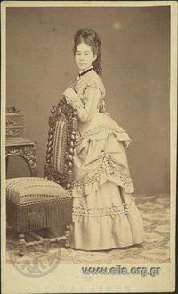 Portrait of a woman. Photographer Petros Moraitis,  Athens c. 1875,Photographic Archive ELIA-MIET