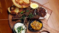 Lamb Koftas with Onion Jam, Hommus and Coriander Yoghurt