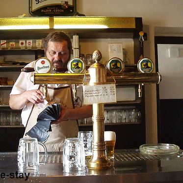 Fresh, quality beer at the Black Ox in #Prague, Czech Republic