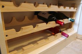 Easy pantry wine rack.  Build a wine rack in the pantry.  Building and building your own wine rack.  Step by step instructions for a homemade wine rack.