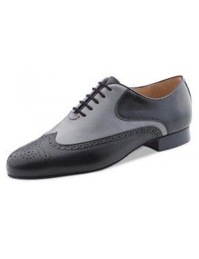 Chaussures de danse noir et gris, Leon Nueva Epoca en cuir