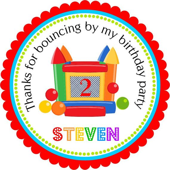 Bounce House Stickers Bounce House Birthday by thepaperkingdom, $6.00