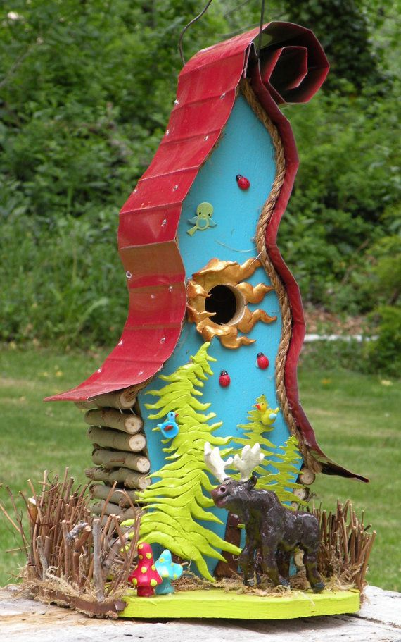 Hey, I found this really awesome Etsy listing at https://www.etsy.com/listing/100350579/moose-in-the-woods-birdhouse