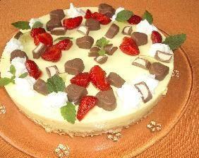 Rezept: Erdbeer-Vanille Philadelphia Torte (ohne Backen)