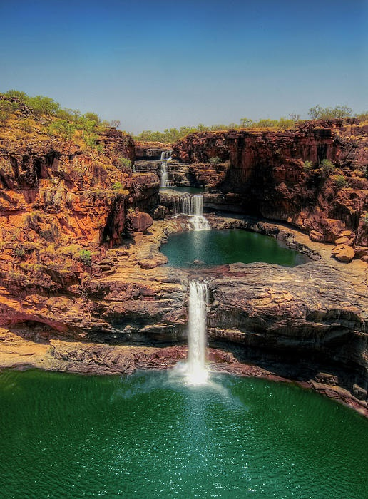 ✮ The four tiered waterfalls of Mitchell Falls, WA