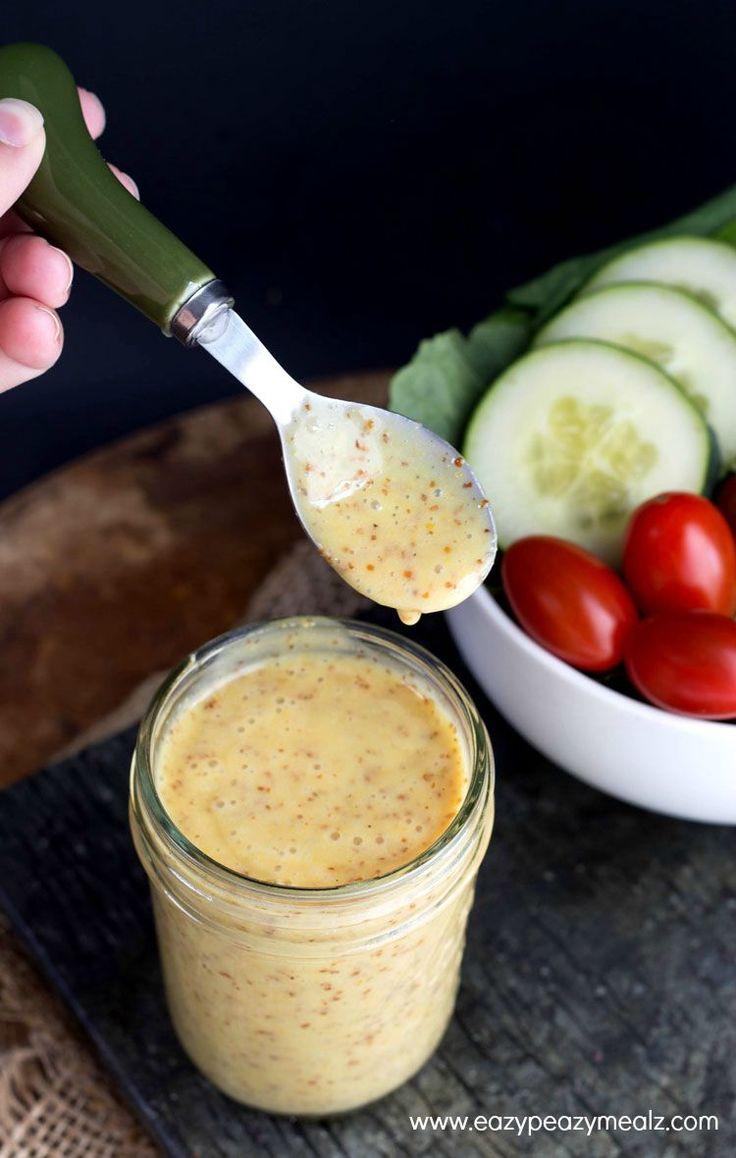 5 Minute Honey Mustard Vinaigrette - Eazy Peazy Mealz