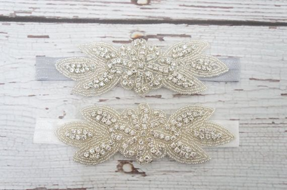Rhinestone Leaf headband- Made with the shiniest crystals and measures 5. Perfect to wear to dress up any outfit. Great for flower girls, junior