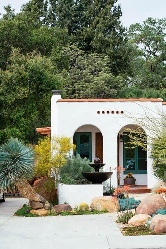 Spanish revival style in ojai california ana kamin for Spanish bungalow exterior paint colors