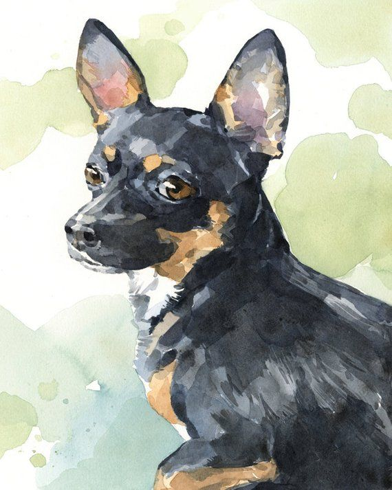 Custom Pet Portrait Realistic Dog Art 8x10 Watercolor Painting