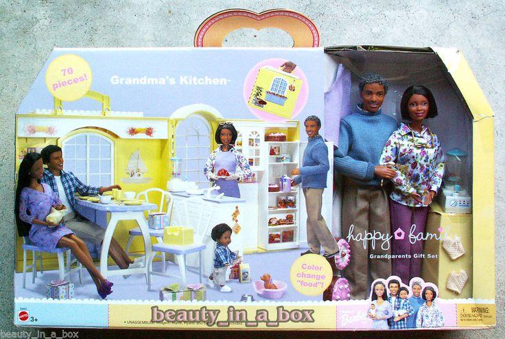 Grandma S Kitchen Happy Family Barbie Doll Grandpa Aa
