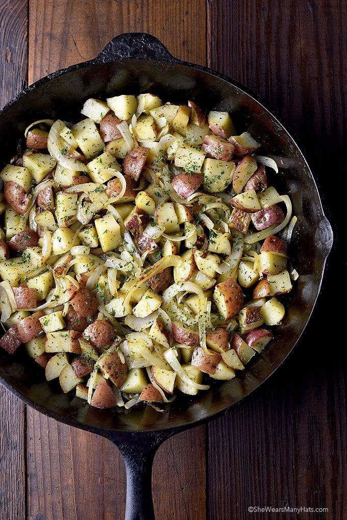 Best Skillet Breakfast Potatoes Recipe on Yummly. @yummly #recipe