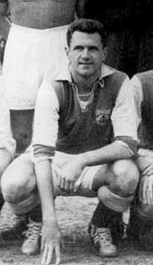 """Joseph Mermans (16 February 1922 in Merksem – 20 January 1996 in Wildert, usually referred to as Jef Mermans (nicknamed """"The Bomber"""") was a football striker from Belgium, who played much of his career at Anderlecht, with whom he won 7 Belgian Championship titles and finished top scorer of this competition 3 times. Mermans played 56 matches with the Belgium national football team, 2 of which in the 1954 FIFA World Cup. He is the 4th top scorer ever for the Belgium national team with 27 goals."""