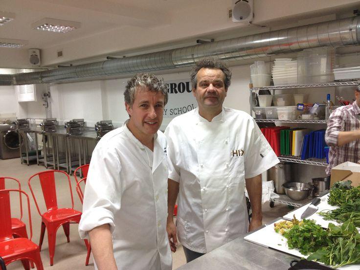 Matt Kemp - owner of the underground cookery school and chef Mark Hix