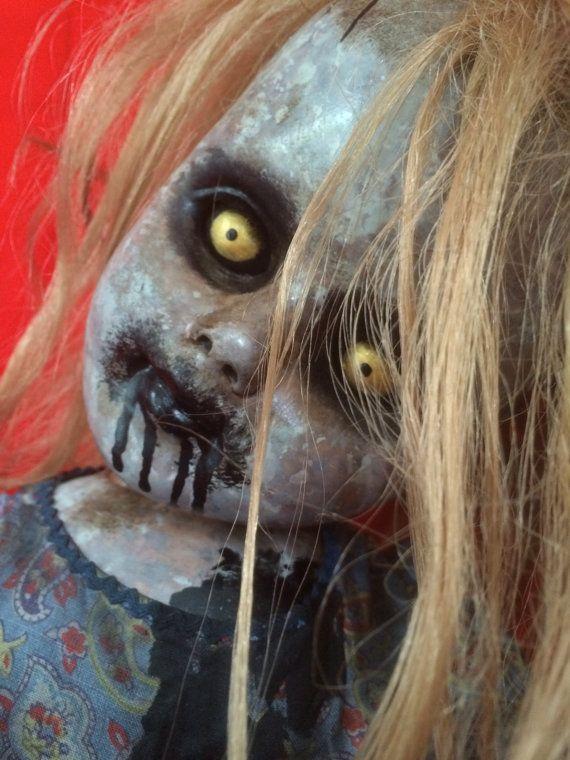 Dee Monica is a  OOAK Zombie baby art doll by TheHeebieJeebiez, $95.00