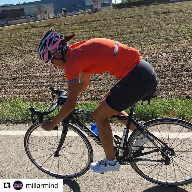 @mariemillar means business. Absolutely storming it on the drops! #thisgirlcan #newkitday Regram courtesy of @millarmind #queenofthemtns #keepclimbing #womenscycling #newkitday #roadcycling #ttlwomenscycling #outsideisfree #girona #roadslikethese #inspiration #strongher
