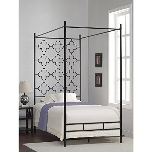 metal canopy bed frame twin sized adult kids princess bed https