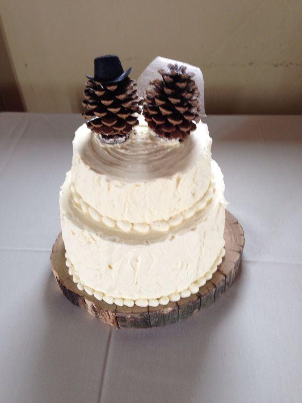 Pinecone Cake Topper :  wedding cake cake topper pinecones rustic Pine Cone Cake