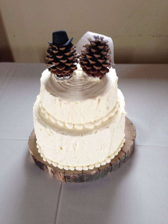 Pinecone Cake Topper :  wedding cake cake topper pinecones rustic Pine Cone Cake