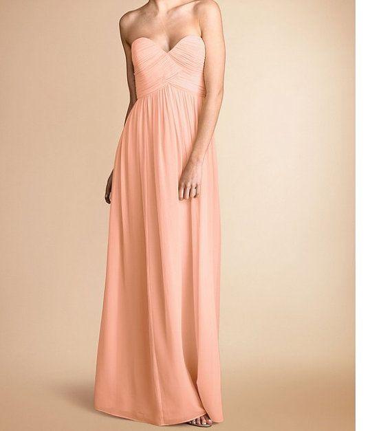 Peach bridesmaid dress Peach Colored bridesmaid by loveBaby2015, $98.00
