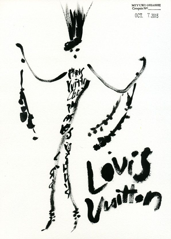Louis Vuitton Spring 2014 RTW, by Miyuki Ohashi