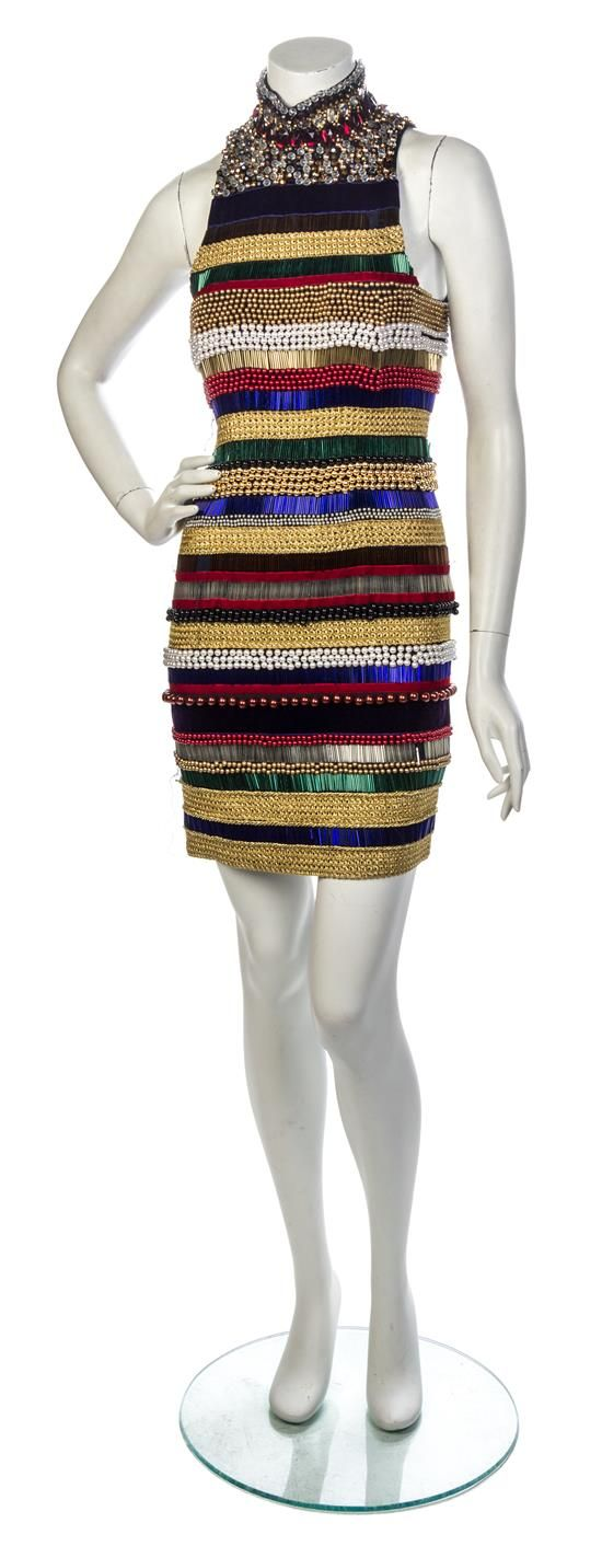 A Gianni Calignano Embellished Cocktail Dress