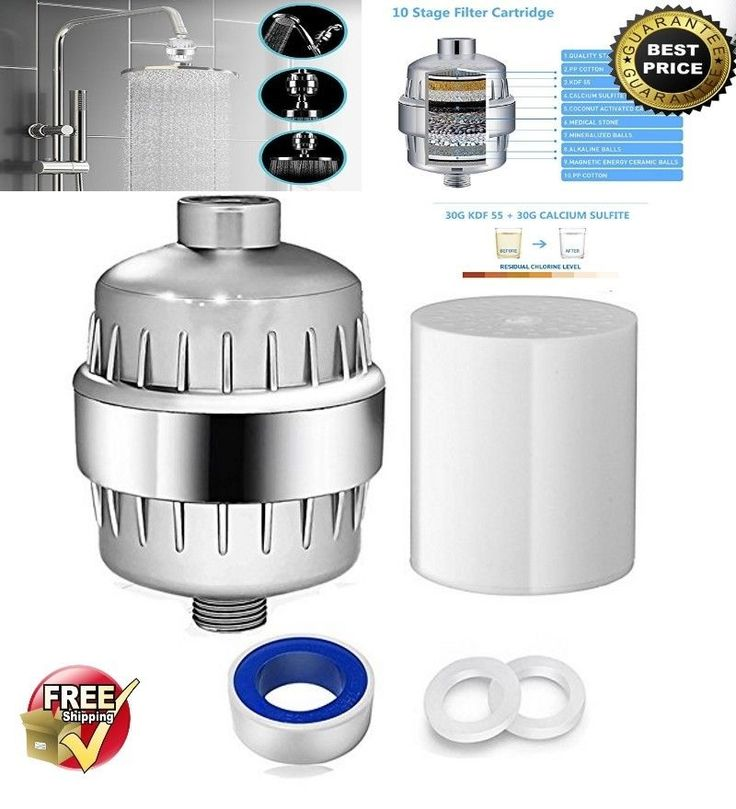 10 Stage Shower Water Filter Softener for Hard Water Removes Chlorine Flouride #FireStar