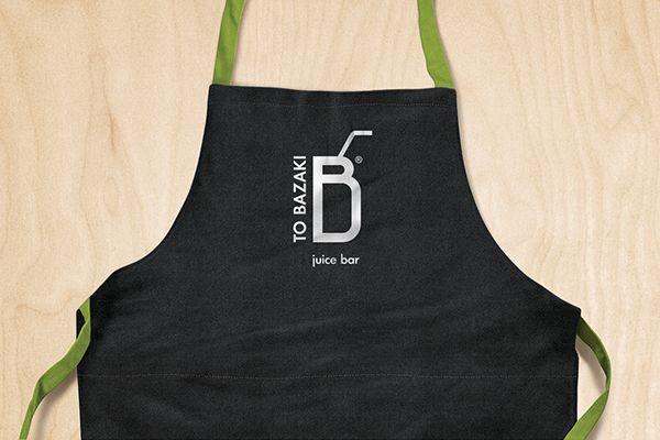 "Design identity and packaging for ""TO BAZAKI"" juice bar.www.tobazaki.com Athens, Greece"