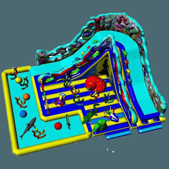 Название: Большой надувной комплекс «Ариэль» Категория: Надувные аттракционы Источник: http://batutmaster.ru/product/bolshaya-naduvnojj-kompleks-ariehl Описание: Стартовая высота горки 5 метров   Многофункциональный батут, разделенный как минимум на 4 зоны. Он насчитывает в себе 2 высок�