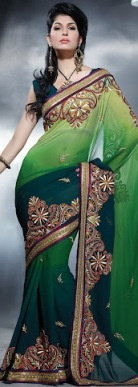 NEW 401RJ Resham work saree with blouse fabric