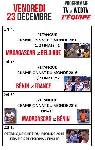 Aujourd'hui à partir de 17h45 - Championnats du Monde de pétanque - ARTICLES sur la pétanque