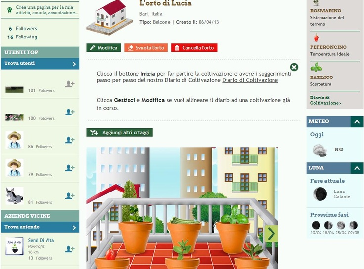 Grow the planet: un social network per chi ama coltivare in casa. Iscriviti da qui.
