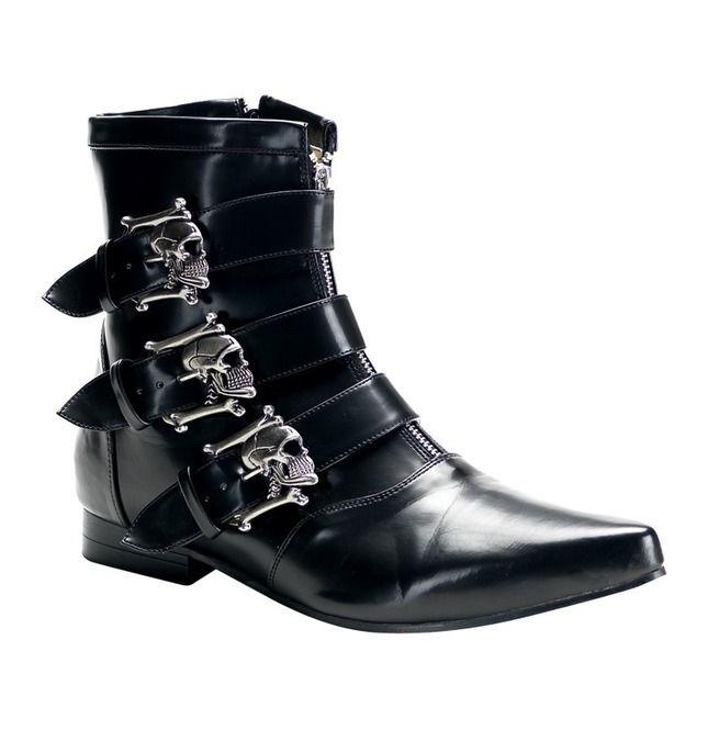 Rebelsmarket skull fury mens ankle boots boots 4