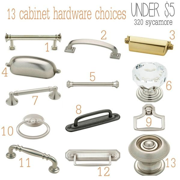 13 cabinet hardware knobs handle choices under $5 - 320 * Sycamore