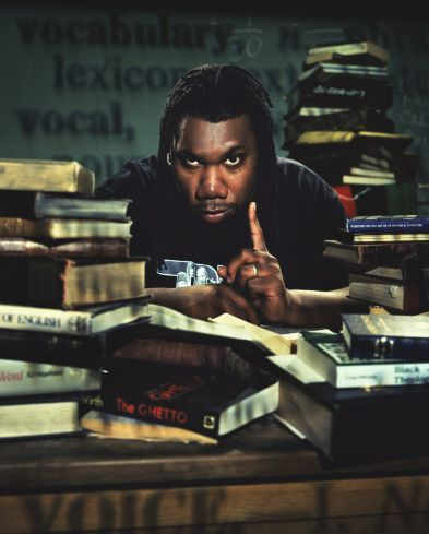 """(Past) 'KRS-One is an acronym for """"Knowledge Reigns Supreme Over Nearly Everyone"""". KRS-One is a significant figure in the hip hop community and is often referenced in works by other hip hop artists and critics as being the 'essence' of an MC and one of the greatest to ever hold the mic.' (Last.fm, 2012)"""