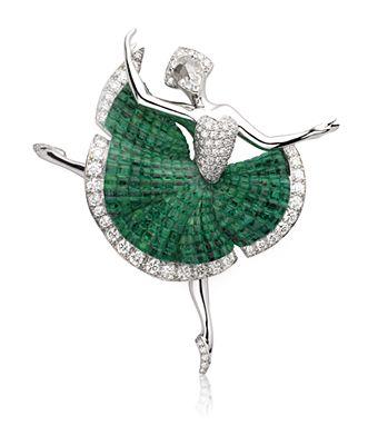 VAN CLEEF & ARPELS, se inspiran en el Ballet de las Joyas, para crear este hermoso broche
