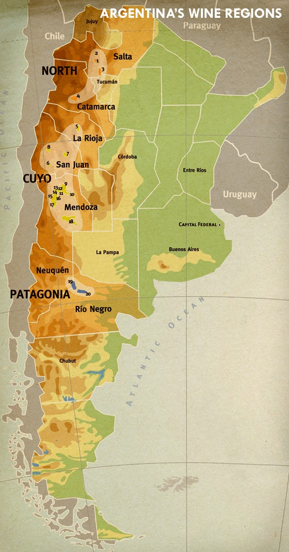 large map of argentina cafayate