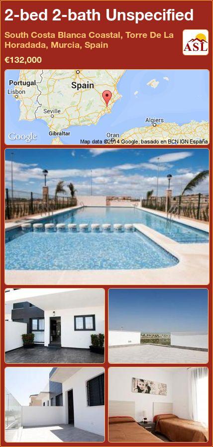 2-bed 2-bath Unspecified in South Costa Blanca   Coastal, Torre De La Horadada, Murcia, Spain ►€132,000 #PropertyForSaleInSpain
