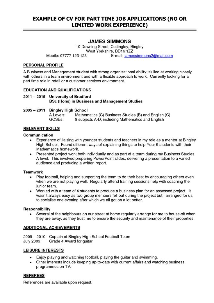 Best 25+ High school resume template ideas on Pinterest Job - culinary student resume