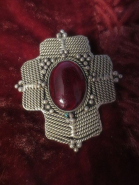 Large unique pendant.   More information given on my website http://barbspencerdolls.com If you are overcharged on shipping costs, I make refunds.