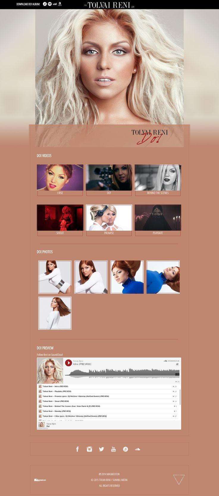 Tolvai Reni - Do! Album promotion web design & development http://do.tolvaireni.com