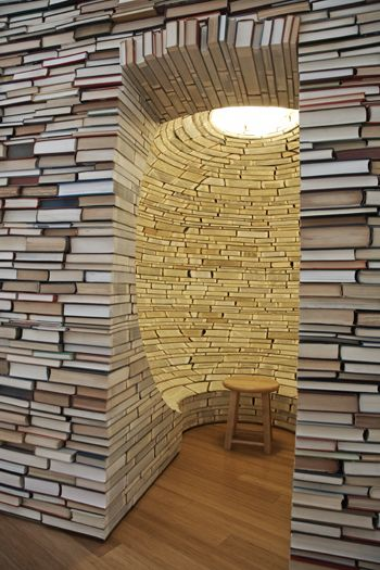 Aaron T. Stephan- a wall of books...surrounded with knowledge
