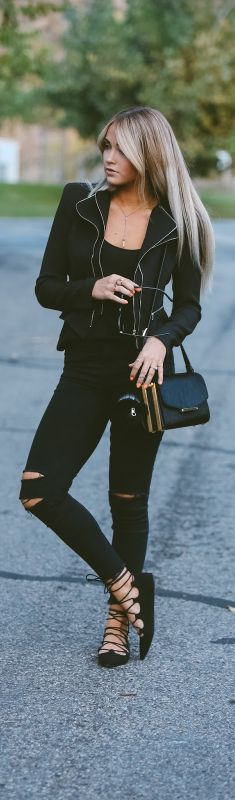 All Black Everything / Fashion By Cara Loren