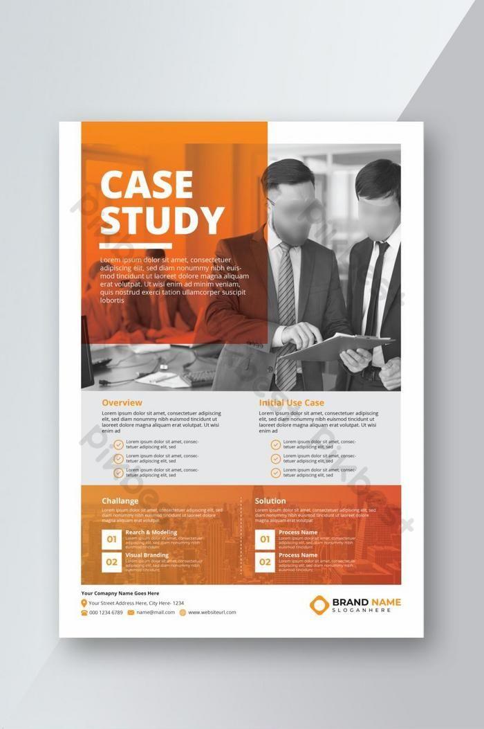Orange Modern Case Study Template Ai Free Download Pikbest Case Study Template Case Study Design Case Study